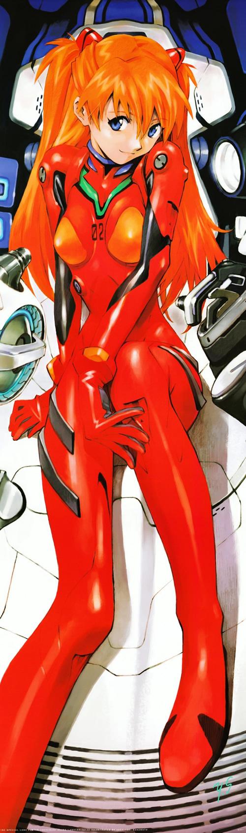 Cute paintings of Asuka Langley Sohryu from Neon Genesis Evangelion